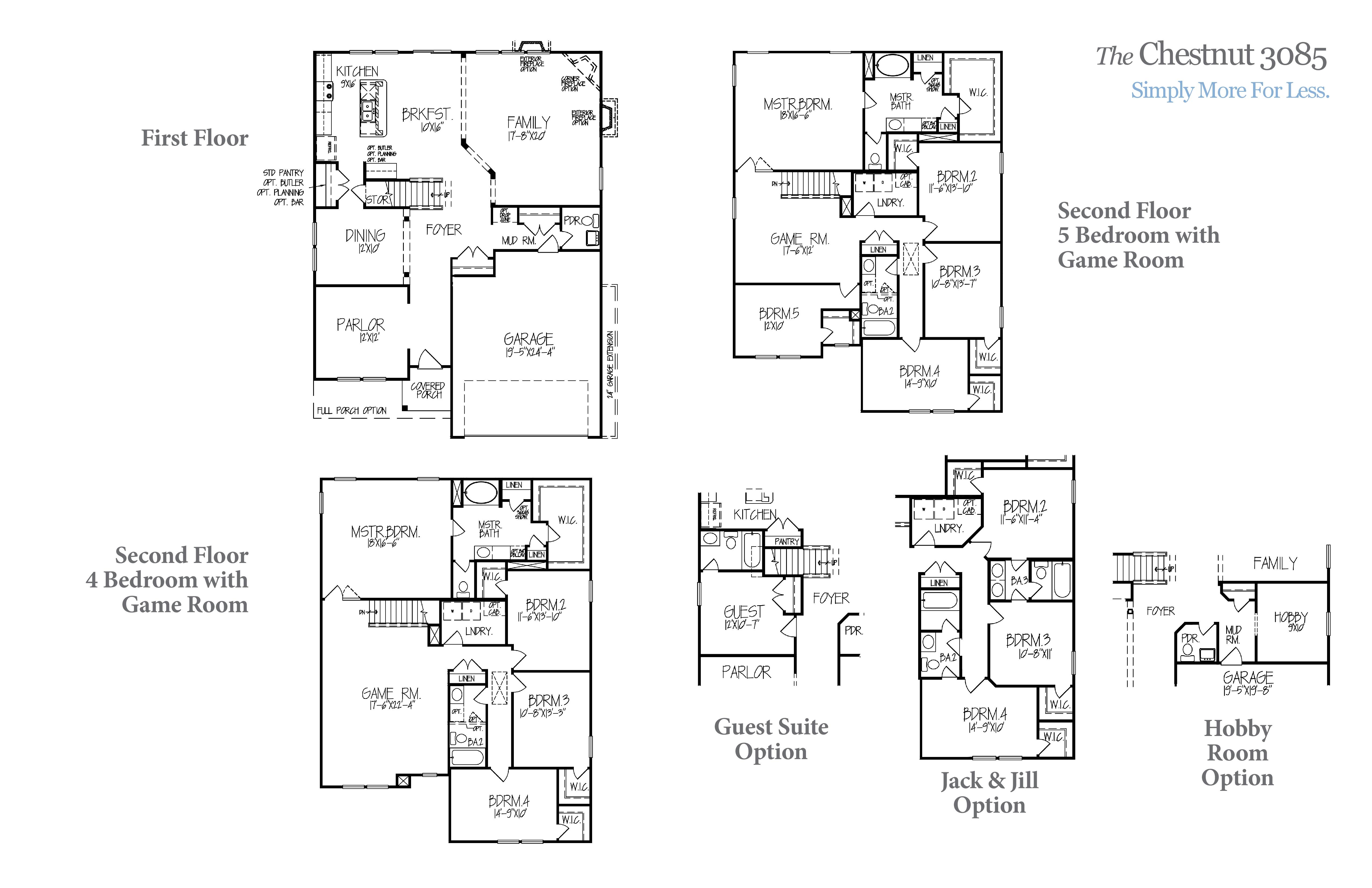 Chestnut 3085 Accent Homes Carolinas – Accent Homes Floor Plans