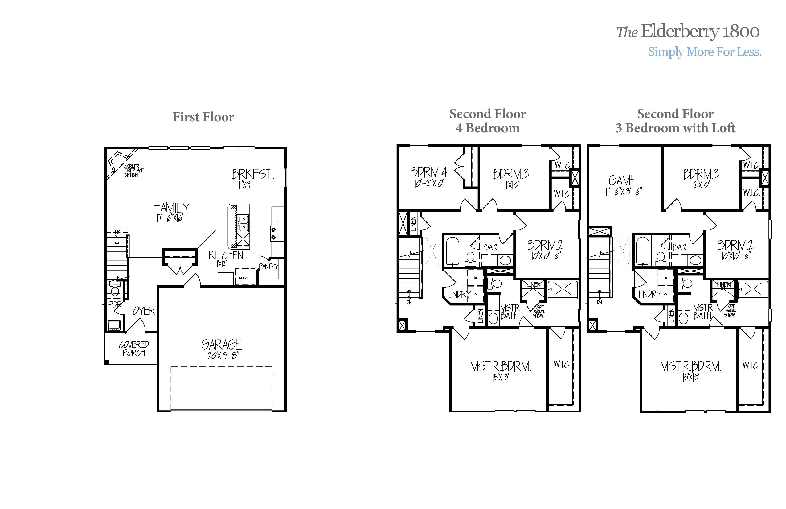 Elderberry 1800 Accent Homes Carolinas – Accent Homes Floor Plans