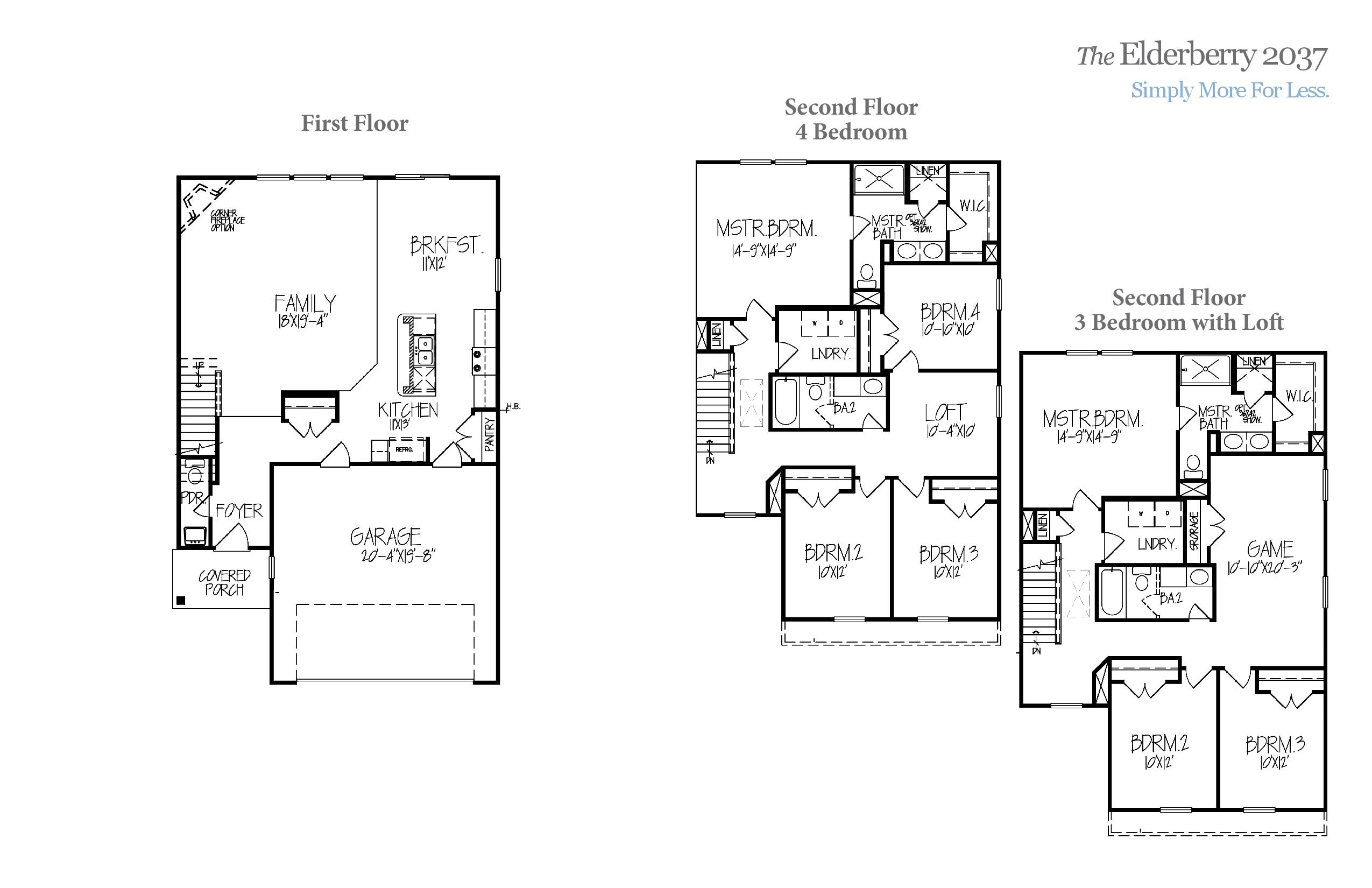 Elderberry 2037 Accent Homes Carolinas – Accent Homes Floor Plans