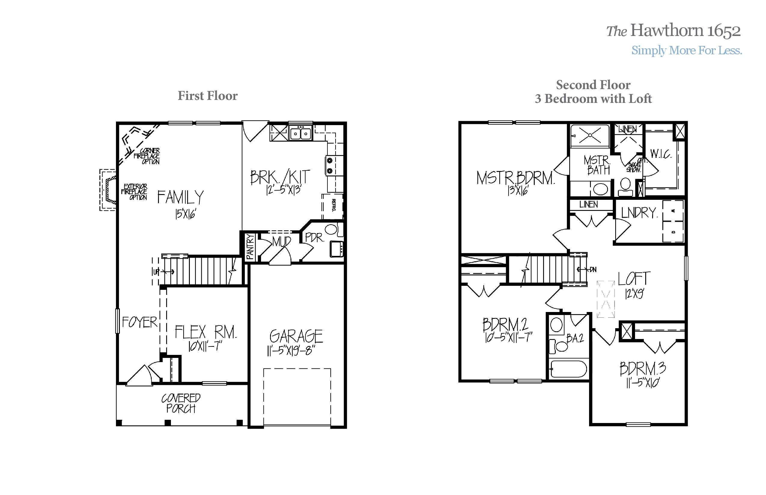 Hawthorn 1652 Accent Homes Carolinas – Accent Homes Floor Plans