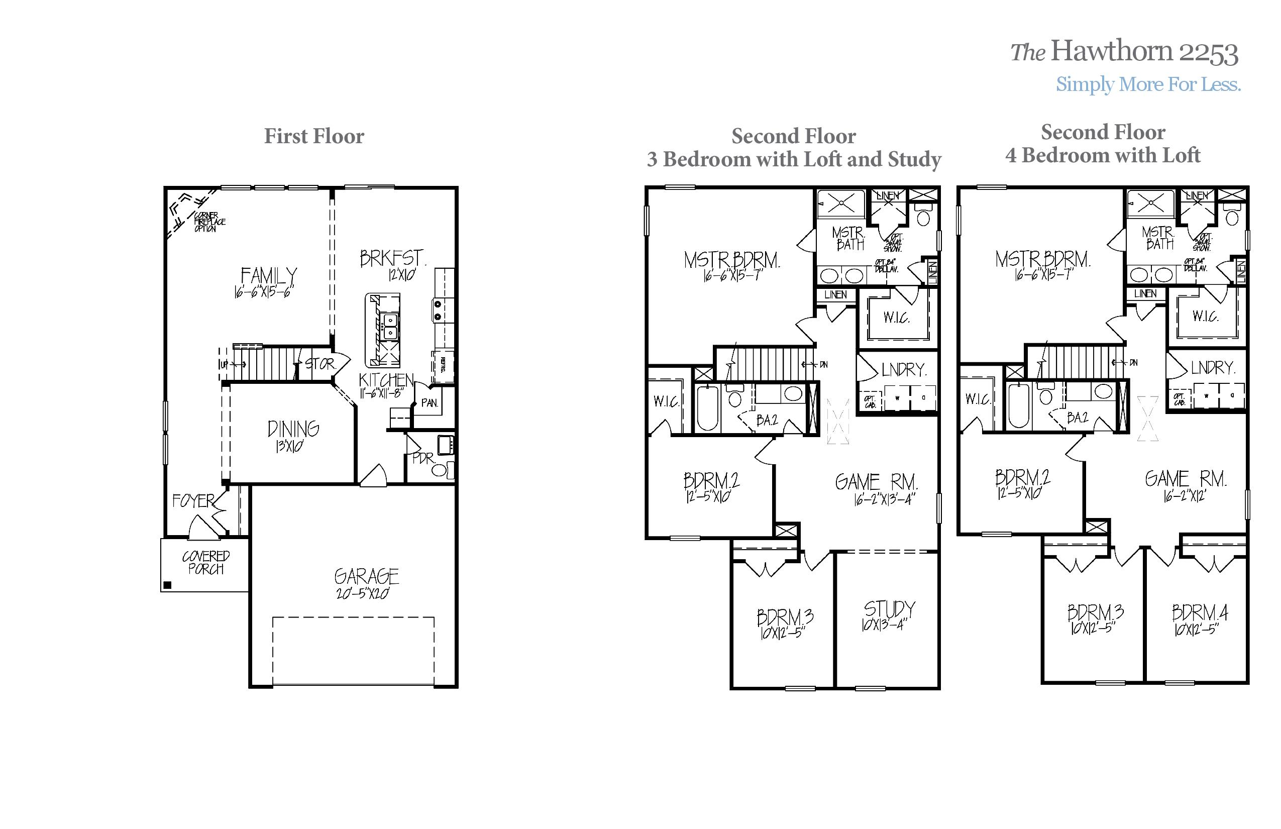 Hawthorn 2253 Accent Homes Carolinas – Accent Homes Floor Plans