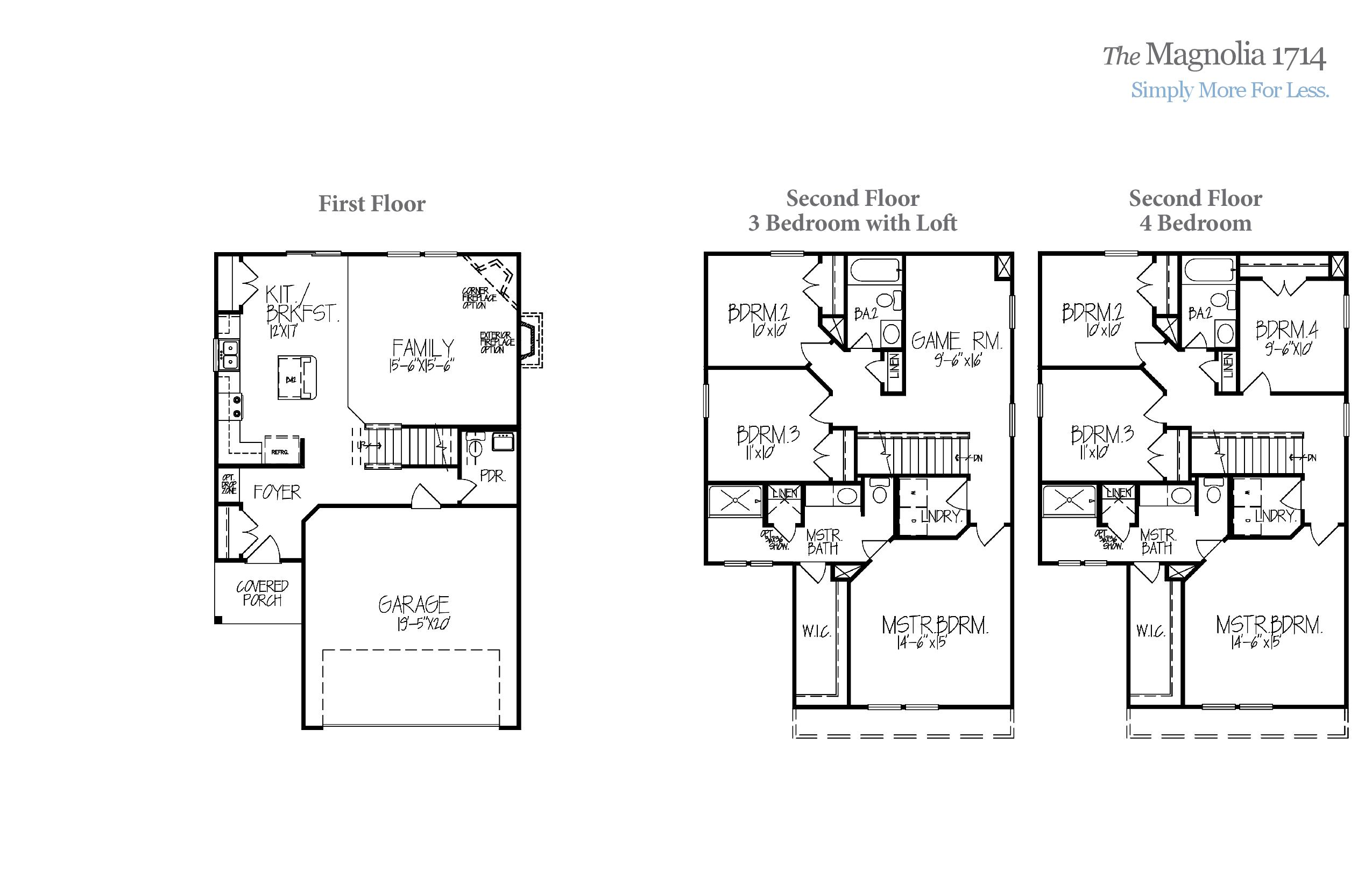Magnolia 1714 Accent Homes Carolinas – Accent Homes Floor Plans