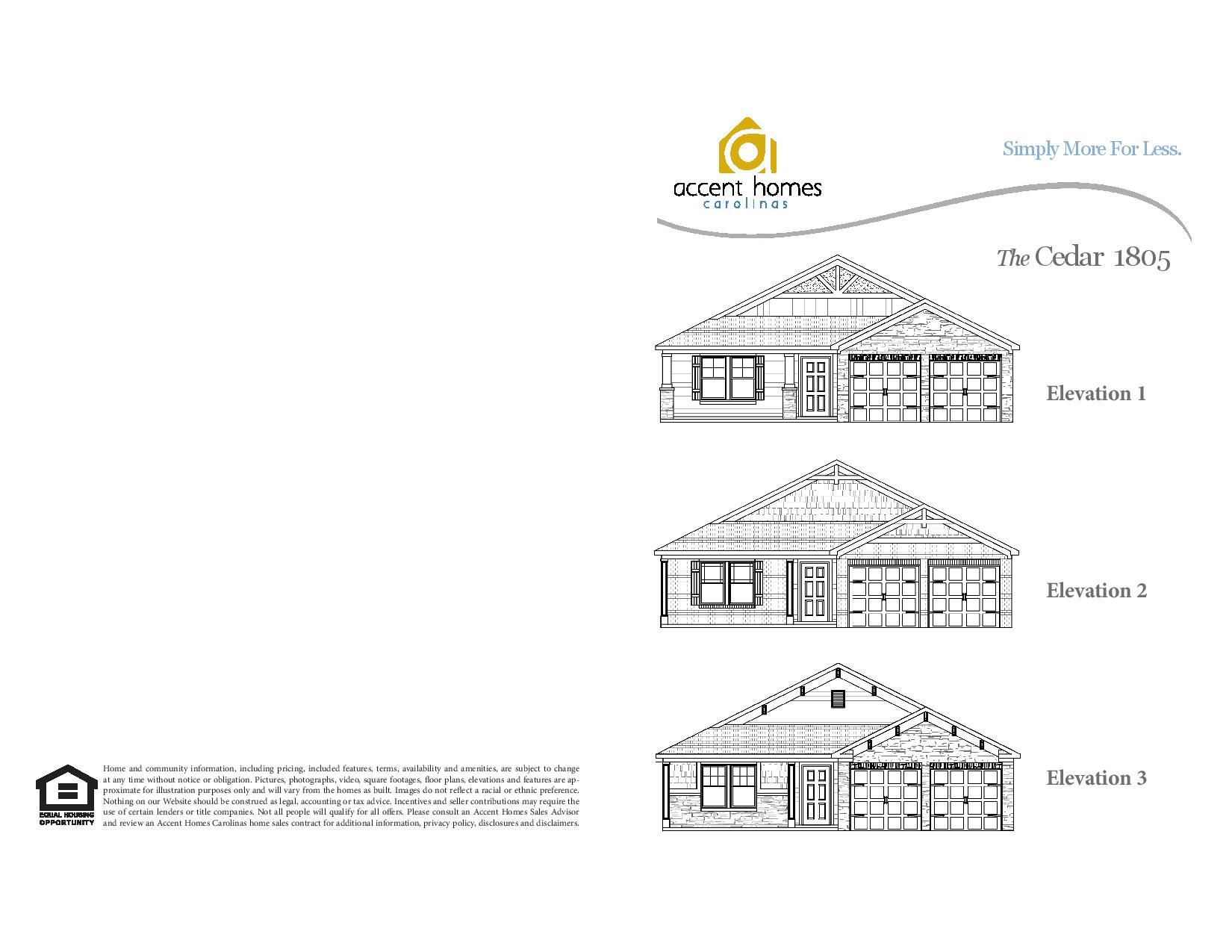 Cedar 1805 Accent Homes Carolinas – Accent Homes Floor Plans